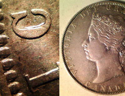 "Canada Silver 50 Cents 1871 (Double Punched ""c"" In ""victoria"") Rare!"
