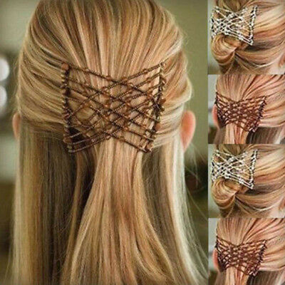 1 Magic Hair Slide Easy Double Beads Stretchy Hair Comb Clip Stretchable Hairpin