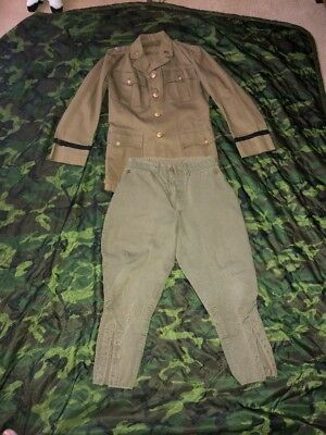 M-1926 Pattern US Army officers Uniform M1926 Tunic & Jodhpurs Pre-WW2