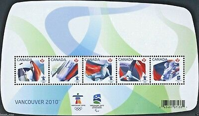 Canada — Souvenir Sheet — Olympic Sporting Events: Vancouver 2010 #2299 — MNH