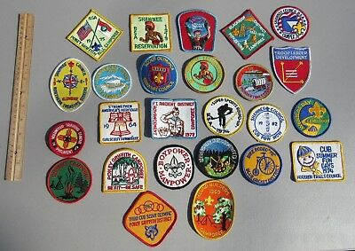 Vintage Boy Scout Bsa Patches, Lot Of 25 Different Patches, New Old Stock