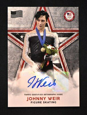 2018 Topps Us Winter Olympics Campioni Bandiera Auto # Oc-Jw Johnny Weir / 25
