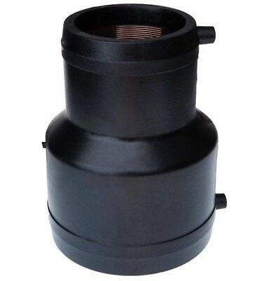 Friatec ELECTROFUSION REDUCING COUPLER Black PE- 110x63mm, 110x90mm Or 125x90mm