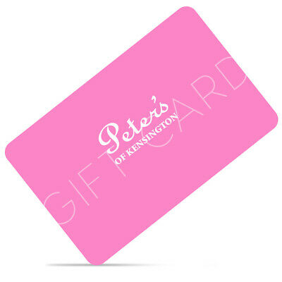 NEW Peter's Seventy Five Dollar Gift Card