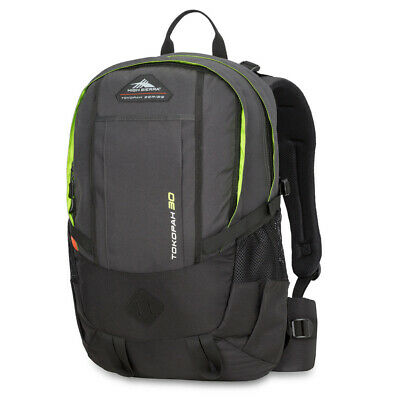 NEW High Sierra Tokopah Backpack Raven/Black/Zest 30L