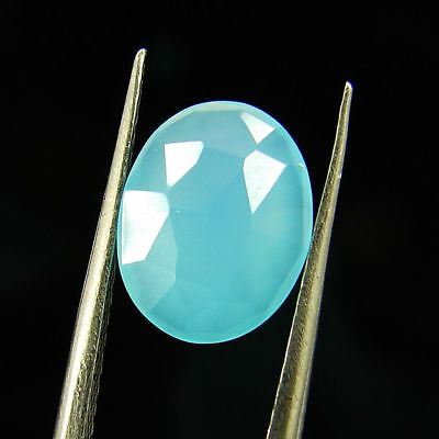1.95 Ct Natural Beautiful Faceted Blue Chalcedony Loose Gemstone - H 3788