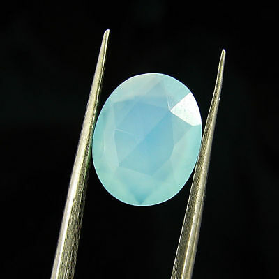 1.75 Ct Natural Beautiful Faceted Blue Chalcedony Loose Gemstone - H 3763