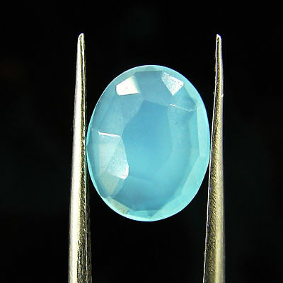 1.75 Ct Natural Beautiful Faceted Blue Chalcedony Loose Gemstone - H 3803