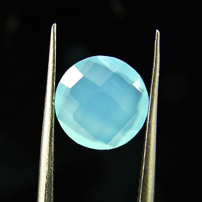 1.25 Ct Natural Beautiful Faceted Blue Chalcedony Loose Gemstone - H 3787
