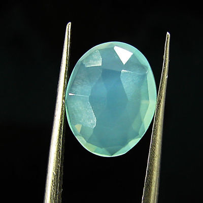 1.85 Ct Natural Beautiful Faceted Blue Chalcedony Loose Gemstone - H 3800
