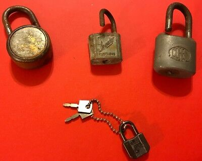 Vintage Padlock Lot, Slaymaker, Corbin, Locks, Keys