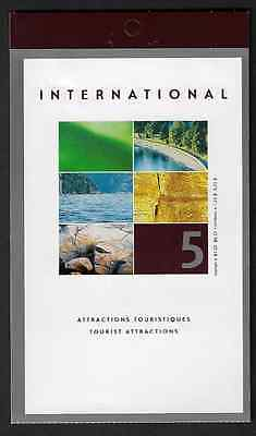 Canada Stamps — Booklet Pane of 5 — Tourist Attractions #1953 (BK260) — MNH