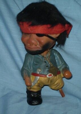 "Very Unusual Vintage  ""bobble Head""  Pirate Troll, Doll"