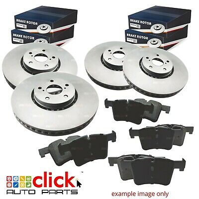FULL SET Disc Rotors and Brake Pads for FRONT & REAR COMMODORE VT VX VY VZ