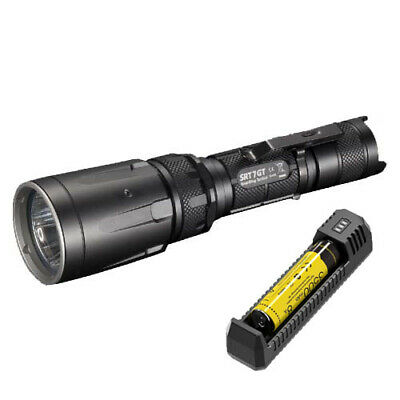 Nitecore SRT7GT Tactical LED Torch, Battery & Charger (AUST STK)