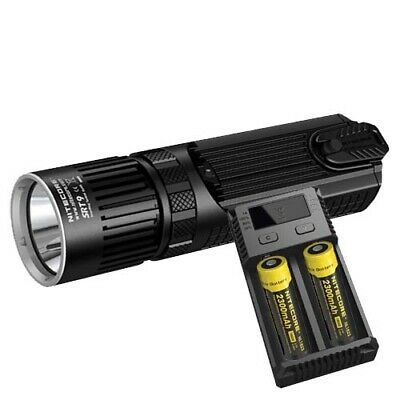 Nitecore SRT9 Tactical LED Torch, 2x Batteries & Charger (AUST STK)