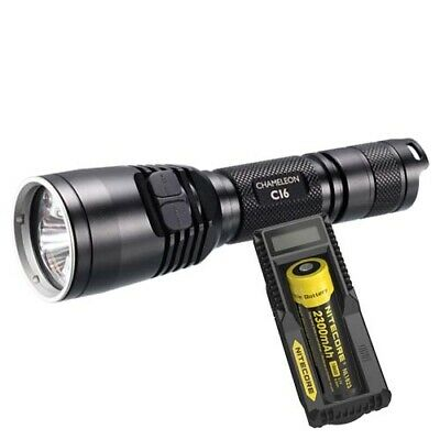 Nitecore CI6 IR/White LED Tactical Torch, Battery & Charger (AUST STK)