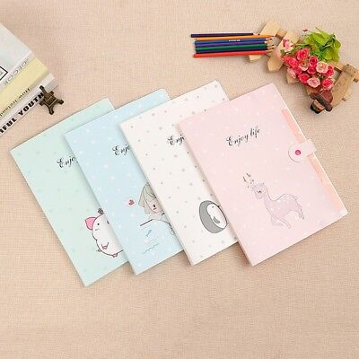 5 Pocket A4 Folder Office Expanding File Colorful Waterproof Organizer Document