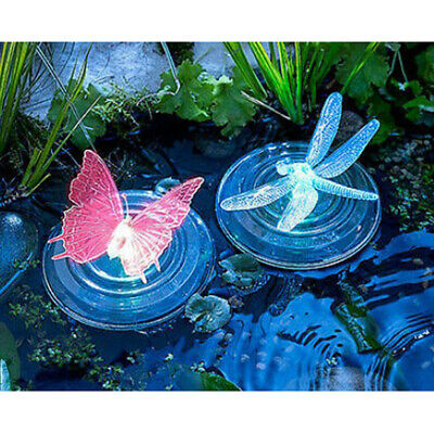 Solar Water Floating Water Decor Dragonfly LED Light 7 Color-Changing Lamp
