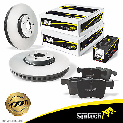 Disc Rotors and Brake Pad SET for FRONT Toyota CAMRY Hybrid AHV40R AVV50R 10-17