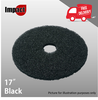"17"" Black Floor Buffing Scrubbing Pad Rotary Floor Machine Ideal for Stripping"