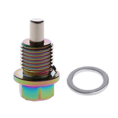 Car M14*1.5 Magnetic Oil Drain Plug Bolt Sump Nut Aluminum Alloy Colorful