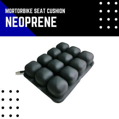 Air Cushion Motorcycle Seat Comfort Pad Inflate Rear Back Passenger Use Neoprene