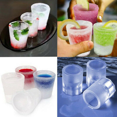 Summer 4Cavity Ice Cup Mold DIY Wine Glass Home Ice Lattice Making Tool