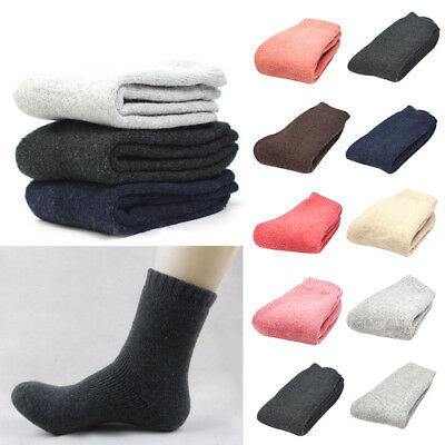 Mens Womens Thicken Thermal Wool Cashmere Casual Sports Winter Warm Hiking Socks