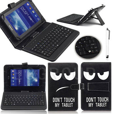 For HUAWEI MediaPad T3 M3 7.0/8.0/10 inch Tablet Leather USB Keyboard Stand Case