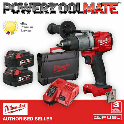 """Milwaukee M18FPD2-502X 1/2"""" Fuel Percussion Drill with 2 X 5.0Ah Batteries"""