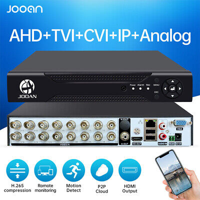 JOOAN HDD 1T/2T 1080N 5-In-1 AHD DVR Security Camera Surveillance 4CH/8CH/16CH