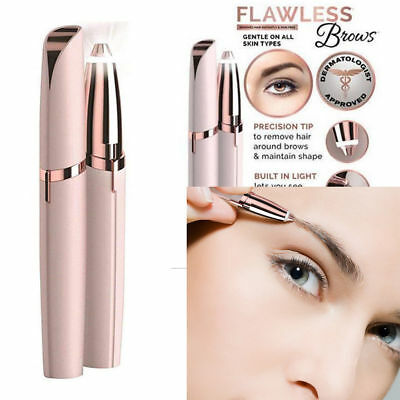Women Painless Facial Face Body Flawless Hair Removal Remover Trimmer Shaver
