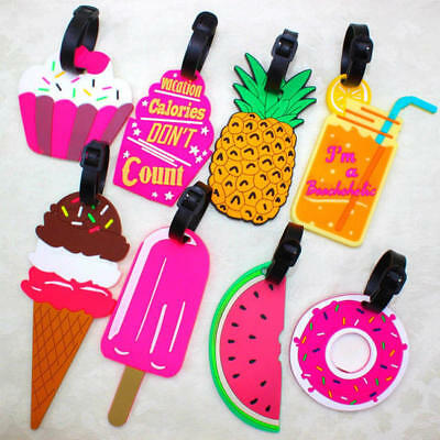 Cute Travel Luggage Tags Suitcase Label Name Address ID Bag Baggage Tag Gift Hot