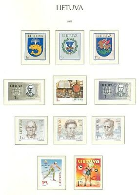 Lithuania G13 MNH 2002 10v Coat of Arms Olympics Sport Skiing Circus