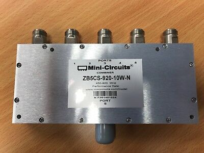 New Mini Circuits ZB5CS-920-10w-N 5 Way Splitter