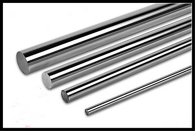 2pcs 6mm OD Cylinder Rail Linear Shaft Optical Axis Chrome-Plated Hard Shaft