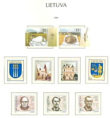Lithuania G23 MNH 2005 9v Agriculture Europa Church Architecture Coat of Arms