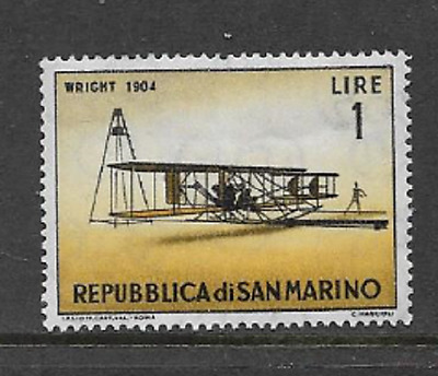 San Marino Postal Issue - 1962 - Mint Hinged Commemorative Stamp - Early Planes