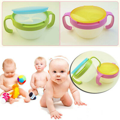 Children Snack Cup Safe Pot Baby Safety Anti-spill Design Double Handle Bowl