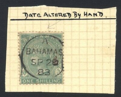 Bahamas 1882-98 1/- USED SG 44 Cat £14.00