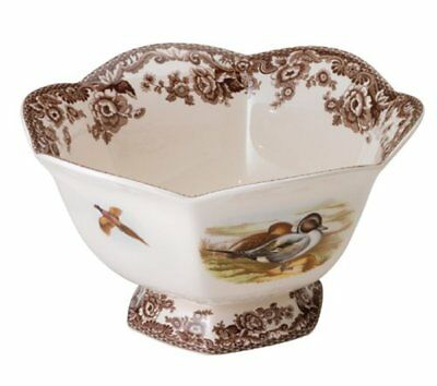 Spode Woodland Pintail Hexagonal Footed Bowl