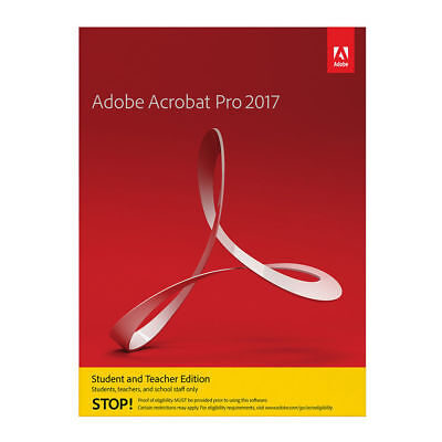 Adobe Acrobat Prof 2017 - Student & Teacher - 1 User (2 Devices) - ENGLISH NEW