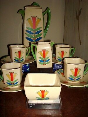 Outstanding~Royal Doulton~Art Deco~Complete Coffee Set D5103~Circa 1933~