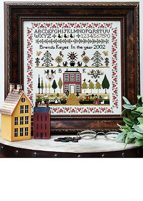 Cross Stitch Sampler Chart - COUNTRY HOUSE. The Sampler Company. Brand new