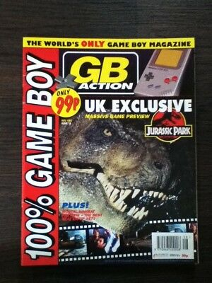 GB Action Game Boy Video Game Magazine Issue 15 August 1993 - Jurassic Park