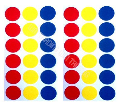 19mm Mixed Colour Sticky Dots Self Adhesive Circle Stickers Round Coloured Label