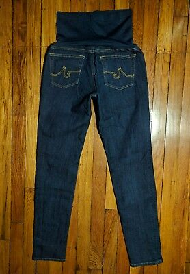 AG Adriano Goldschmied Pea In The Pod Dark Maternity Skinny Jeans Size 29 x 30""