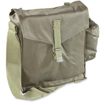 Genuine Polish Military Surplus Issue Canvas Shoulder Bag, Army Men Olive Drab