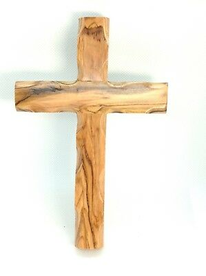 Olive Wood Wall Handmade Jesus Cross Christian from Holyland Jerusalem 6.4""
